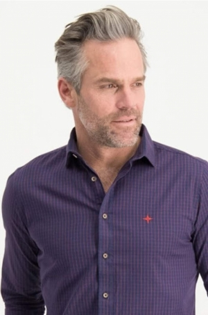 SS20.shirt cotton check logo