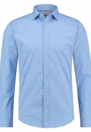 shirt aop stretch blue bird logo