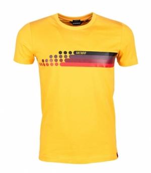 T-shirt racing yellow logo
