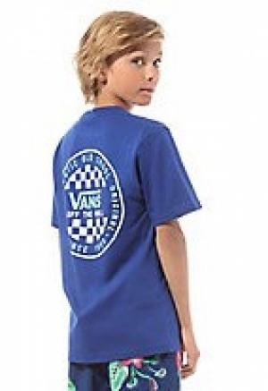 T-shirt checker boys s-blue logo