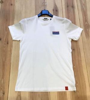 t-shirt velotourist white logo
