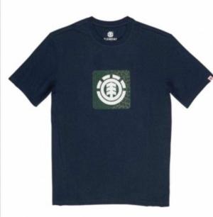 t-shirt leopard boy navy logo