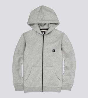 sweat zip 92 boy grey hea logo