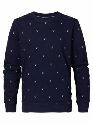 sweater R-neck 5090 deep capri logo