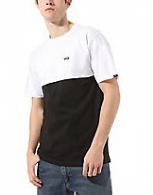 t-shirt colorblock BLK-White logo