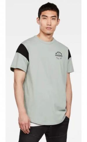 T-shirt sport panel pistache logo