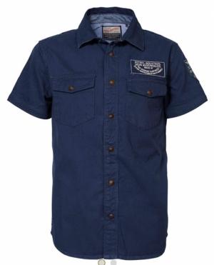 shirt SS 6083 deep navy logo