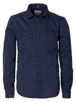 Shirt ls dark indigo logo