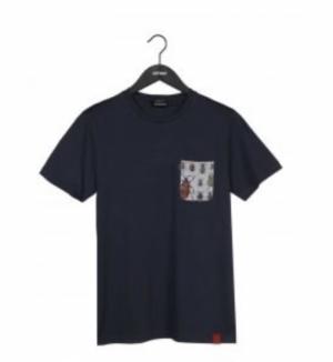 T-shirt ink blue logo
