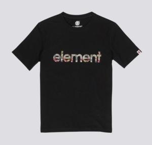 T-shirt boy flint black logo