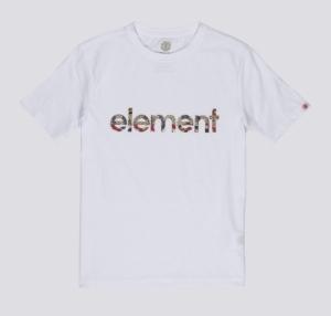 T-shirt boy optic white logo