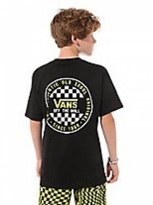T-shirt checker boys BLK-SU logo