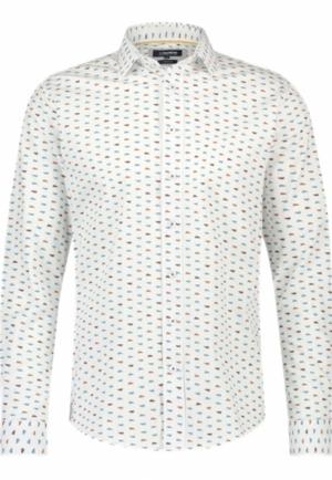 Shirt italian fit stretch logo