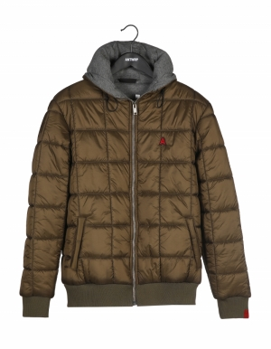 Jacket brown logo