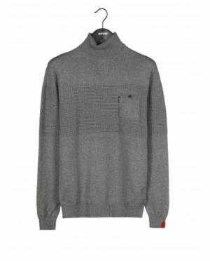 Pull med. grey chiné logo