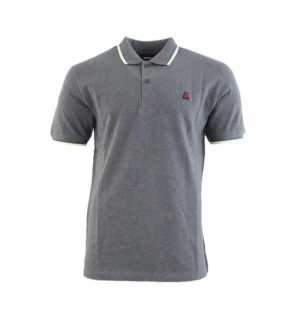 Polo med grey chiné logo