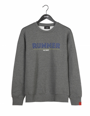 Sweatshirt med grey chiné logo