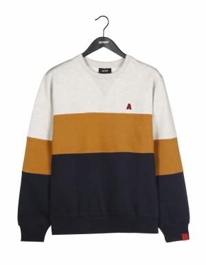 Sweatshirt ecru chiné logo
