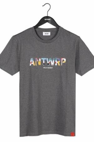 T-shirt med gery chiné logo