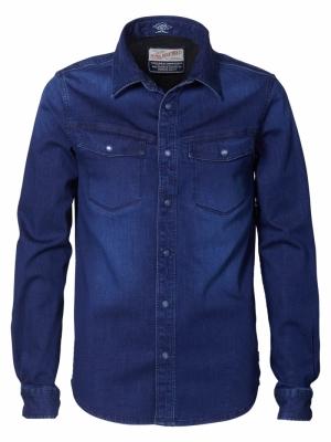 shirt dark indigo logo