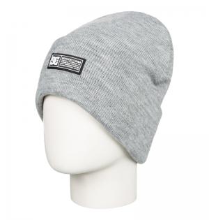 Beanie label youth frost grey logo