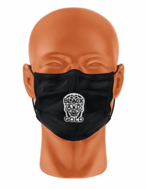 Masker black & Gold BLK logo