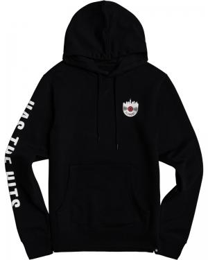 Vinnys hood flint black logo