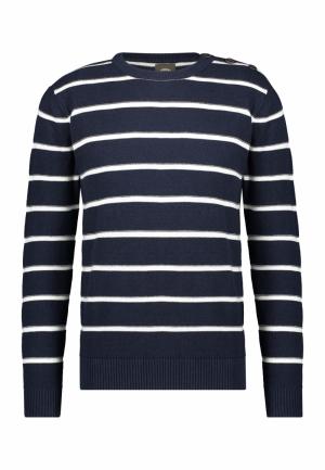 Knit striped logo