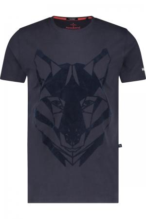 Tee husky flock logo
