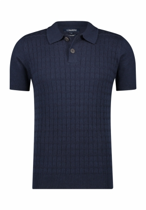 Polo knitted structure logo