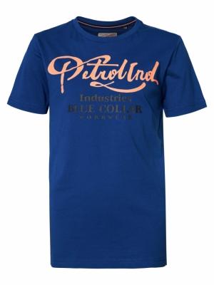 Boy-T-shirt imperial blue logo