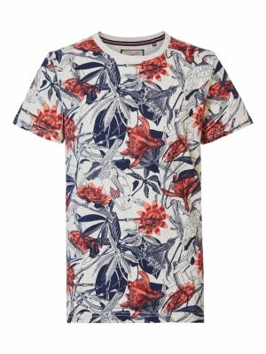 Boy-T-shirt fiery coral logo