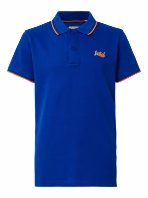 Boy-Polo imperial blue logo