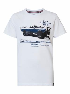 Boy-t-shirt bright white logo