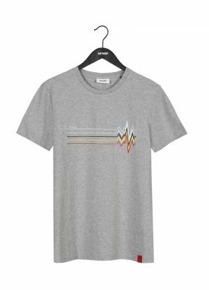 T-shirt velo tourist grey logo