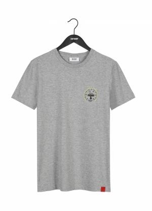 T-shirt kilometriek grey logo
