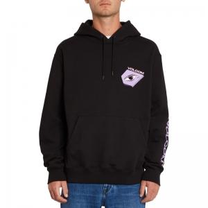 Hoodie fleece black logo