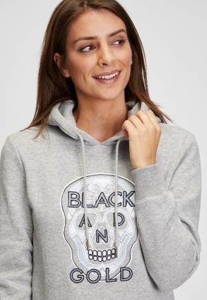 Hoodie Coihue med grey heather logo