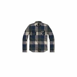 Shirt flannel blues logo