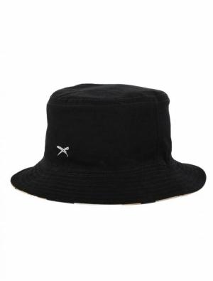 Bucket hat black logo