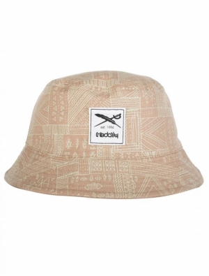 Resort bucket hat khaki logo
